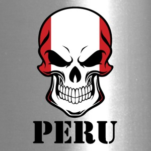 Peruvian Flag Skull Peru - Travel Mug