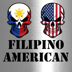 Filipino American Flag Skulls - Travel Mug