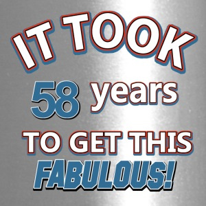 58th birthday, design - Travel Mug