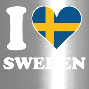 I Love Sweden Swedish Flag Heart - Travel Mug