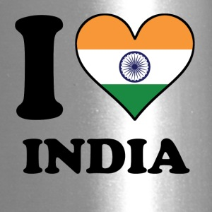 I Love India Indian Flag Heart - Travel Mug