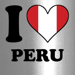 I Love Peru Peruvian Flag Heart - Travel Mug