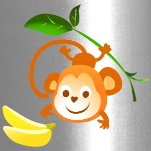 monkey banana animal wildlife vector kids picture - Travel Mug