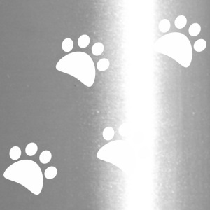 CAT_FOOTPRINTS_WHITE - Travel Mug
