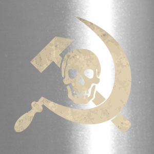 Cool golden skull with hammer and sickle - Travel Mug