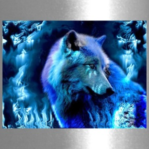 glowing wolf - Travel Mug