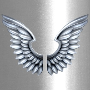silver-angel-wings - Travel Mug