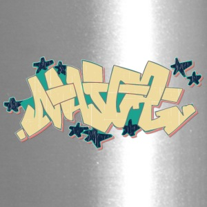 maj_graffiti_yellow - Travel Mug