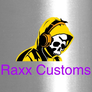 SKULL RAXX CUSTOMS logo yellow - Travel Mug