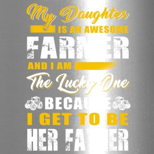 My daughter is an awesome Farmer T Shirts - Travel Mug