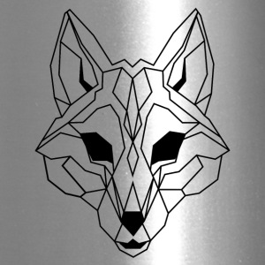 Lineart of a wolf / wolf transparent - Travel Mug