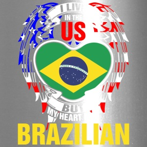 I Live In The Us But My Heart Is In Brazilian - Travel Mug