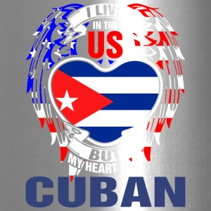 I Live In The Us But My Heart Is In Cuban - Travel Mug