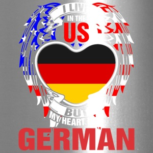 I Live In The Us But My Heart Is In German - Travel Mug