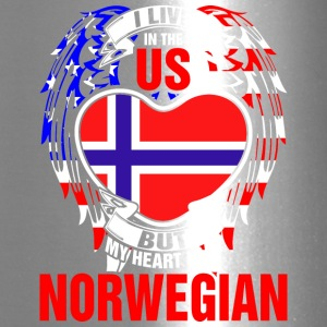I Live In The Us But My Heart Is In Norwegian - Travel Mug
