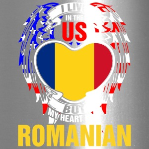 I Live In The Us But My Heart Is In Romanian - Travel Mug