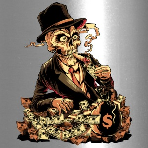 skeleton-cigar-dollar-comics-cartoon - Travel Mug