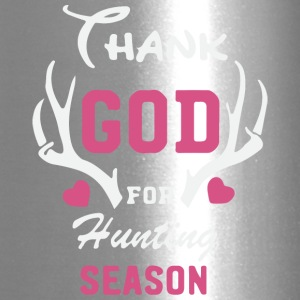 Thank God for hunting season - Travel Mug