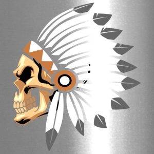 indian_chief_skull_colors - Travel Mug