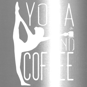 Yoga And Coffee T Shirt - Travel Mug