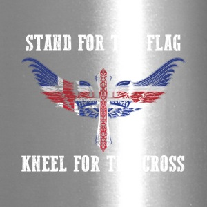 Stand for the flag Iceland kneel for the cross - Travel Mug