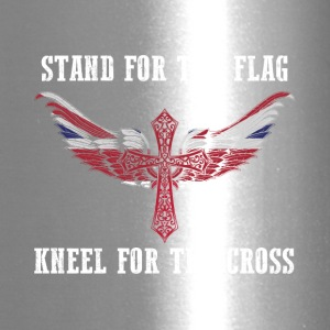 Stand for the flag UK kneel for the cross - Travel Mug