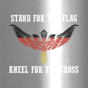 Stand for the flag germany kneel for the cross - Travel Mug