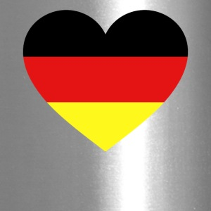 Germany Flag Love Heart Patriotic Symbol - Travel Mug