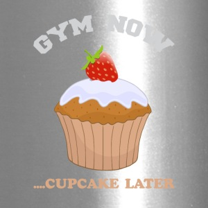 Gym now for exercise and eat Cupcake later - Travel Mug