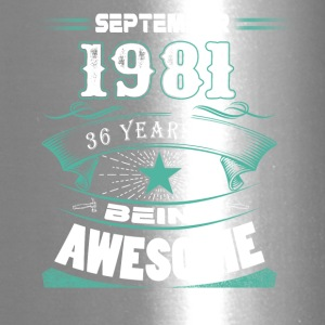 September 1981 - 36 years of being awesome - Travel Mug