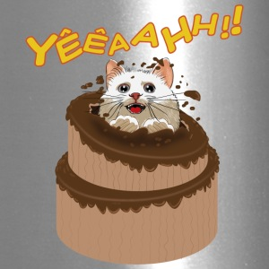 Kitten on chocolate cake - Travel Mug