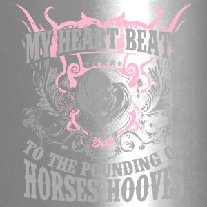 My heart beats to horse hooves - Travel Mug