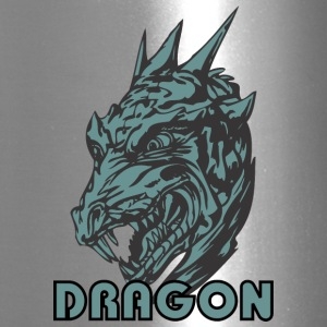 scary_dragon_head_color - Travel Mug