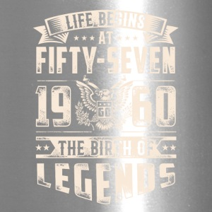 Life Begins At Fifty Seven Tshirt - Travel Mug