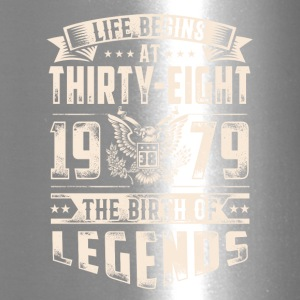 Life Begins at Thirty-Eight Legends 1979 for 2017 - Travel Mug