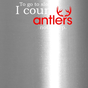 I Count Antlers Not Sheep - Travel Mug