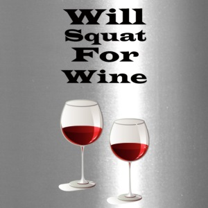 Will squat for wine - Travel Mug