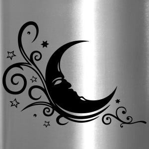 Large moon with Tribal and stars. - Travel Mug