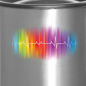 Gay Pride Heartbeat - Travel Mug
