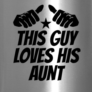This Guy Loves His Aunt - Travel Mug