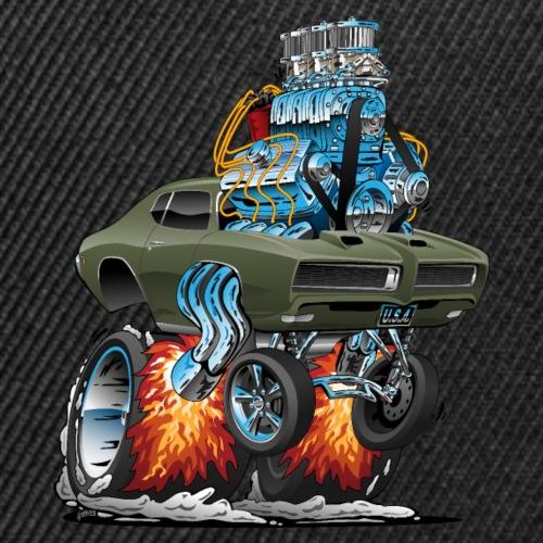 Classic American Muscle Car Hot Rod Cartoon - Snap-back Baseball Cap