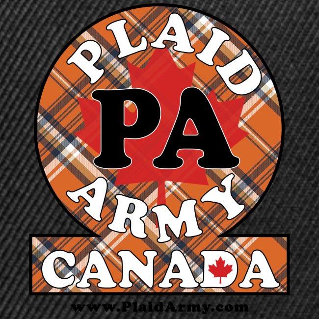 Plaid Army orange plaid army crest