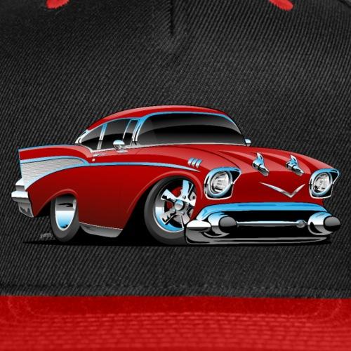 Classic hot rod 57 muscle car - Snap-back Baseball Cap