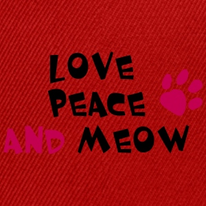LOVE PEACE AND MEOW! - Snap-back Baseball Cap