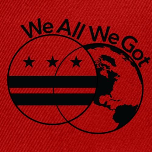 WeAllWeGot Logo Black - Snap-back Baseball Cap