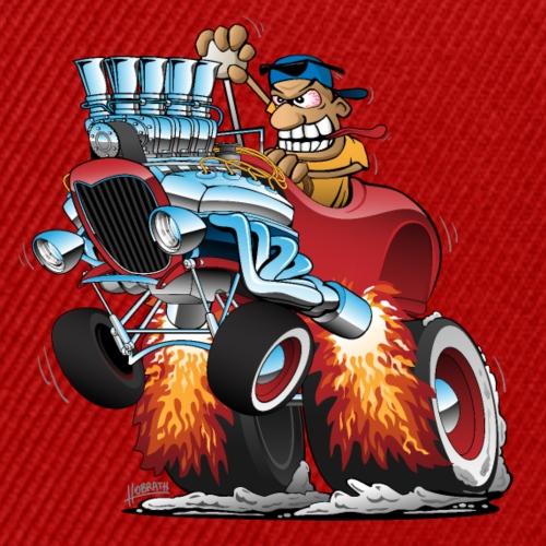 Highboy Hot Rod Race Car Cartoon - Snap-back Baseball Cap