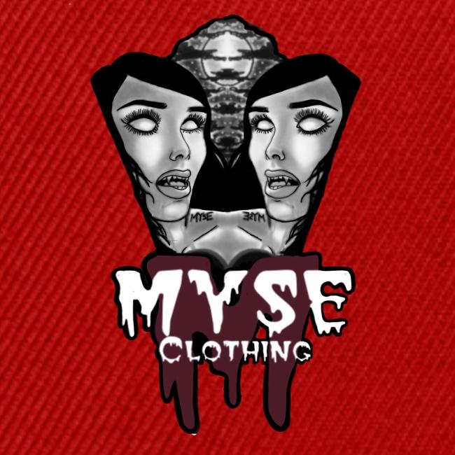 Myse clothing logo with vampire