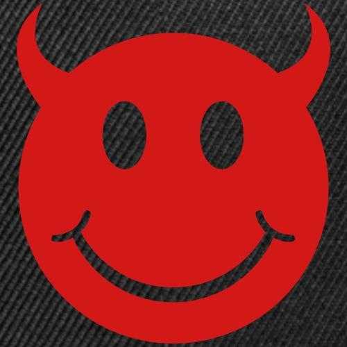 Smiley Devil Face - Snap-back Baseball Cap