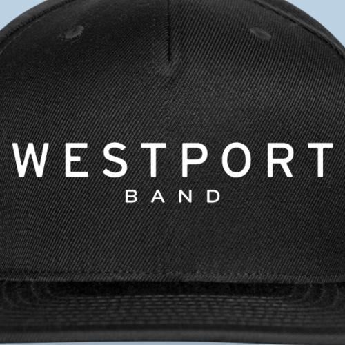 Westport Text White on transparent - Snap-back Baseball Cap