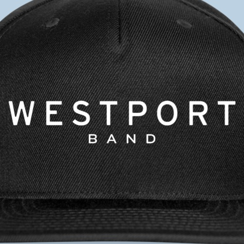 Westport Text White on transparent - Snapback Baseball Cap